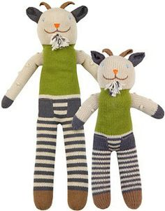 Blabla Knit Billy the Goat // handmade in Peru.  Lots of animals and dolls to choose from and different sizes