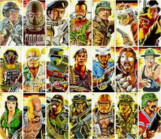 gi joe characters   GI Joe Character Code Names from their File Card Pictures Quiz by ...