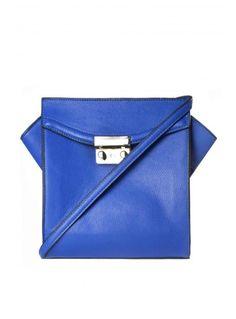 Royal Blue Across The Body Box Bag