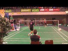 Badminton Top12  1er décembre 2012   ASPTT Strasbourg - RS Mulhouse  SH2 : Julien MAIO - Romain EUDELINE  3ème set, 20 égalité. Et puis ce coup ....   jamais vu !!!!