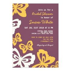 ShoppingPurple Butterfly Bridal Shower Wedding InvitationThis site is will advise you where to buy