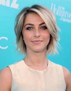 Julianne Hough. stunning makeup & love the textured bob