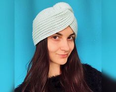 Fashion turban Full knit turban hat Merino wool turban hat for woman Hijab winter Turban headband headwrap hat Knit twisted headband What could be warmer than wool hats? Especially if it is knitted with love. Winter is coming! Lets getting warmer! Made knit Merino wool hat in: