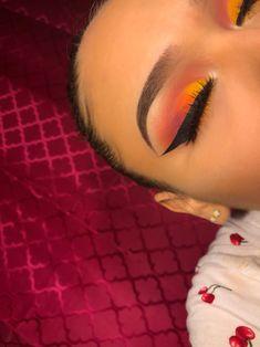 Yellow  orange  purple  ombré with liner @melan.i