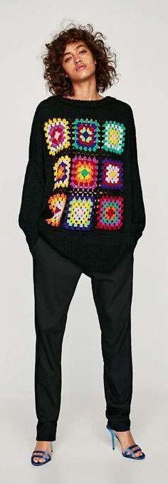 b5818778 Zara Trousers Women, Pants For Women, Cardigan, Zara Women, Gingham,  Christmas
