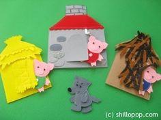 Ideas para el hogar: Teatro infantil realizado en fieltro con sencillas costuras