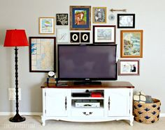 Hawthorne and Main: 14 Ideas + Solutions for a Gallery Wall Behind the TV