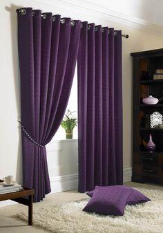 Dark Purple Curtains | Madison Eyelet Curtains - Purple