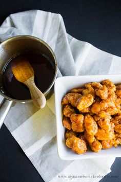 Sticky Finger Popcorn Chicken Recipe.  Perfect Party Food! It comest together in 20 mintues.   |  mynameissnickerdoodle.com