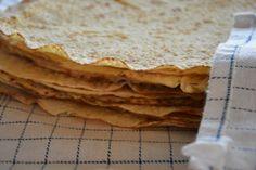 Mormors lefser Tapas, Bread, Buns, Ethnic Recipes, Food, Brot, Essen, Baking, Meals