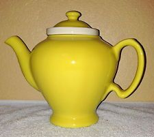 Canary McCormick Teapot with Infuser made by Hall China