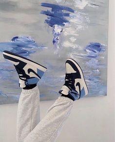 Blue, Jordan, and Nike Sneakers, Street Wear, Kicks #nike #fashion #sneakers #trainers #runningshoes #athleticshoes #kicks #airjordan #shoes #activewear Dr Shoes, Swag Shoes, Cute Nike Shoes, Nike Air Shoes, Hype Shoes, Shoes Sneakers, Jordan Sneakers, Nike Street Shoes, Nike Socks