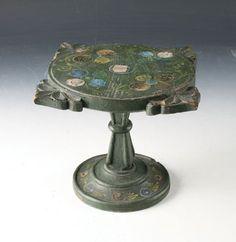Norwegian Wooden Cake Stand (Stettfat) from 1800s - H.17cm - NOK 450