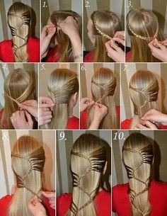 Cool braided headband (your hair)