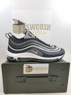 Nike Air Max 97 Ultra '17 Black PLAT Anthracite 917704 003 WMN 10 Men's Size 8.5 #Nike #Shoes