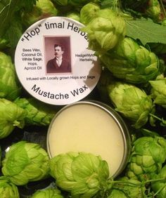 Hoptimal Herbal  Mustache Wax by HedgeWytchHerbals on Etsy, $8.00