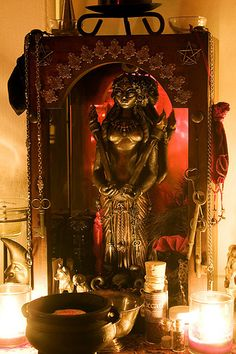 Hekate's Shrine is first within the heart of Her own In truth it is between you and Hekate How Her shrine shall be, as our relationship is a personal one Key is know Her then you will know ho… Hecate Goddess, Moon Goddess, Earth Goddess, Goddess Art, Pagan Altar, Wiccan, Pagan Decor, Voodoo, Tarot