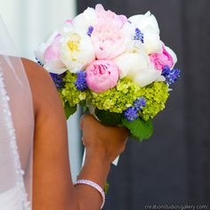 Beautiful bouquet by Southern Event Planners, Memphis, Tennessee. Photo courtesy of Creation Studio Art Gallery Wedding, African American Weddings, Southern Weddings, Bride Bouquets, Pink Peonies, Purple Wedding, Wedding Inspiration, Wedding Ideas, Wedding Designs
