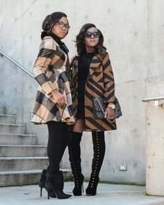 Pattern play (plaid and prints) for the blogger collab: http://www.lapassionvoutee.com/2016/01/street-style-blog.html