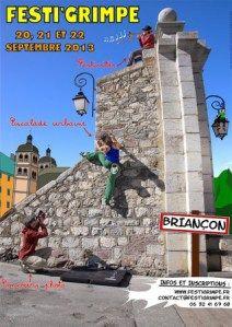 BRIANCON - 20, 21 et 22 sept. – FESTI'GRIMPE 2013 - Portes de la Cité Vauban, Parc Chanoine Mottes