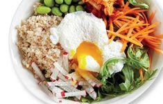 Je compose ma salade Un peu de ceci, un peu de cela… Combiner les différents ingrédients en petites... Salade Weight Watchers, Ethnic Recipes, Eve, Food, Kitchens, Salads, Loosing Weight, Weight Watchers Points List, Essen