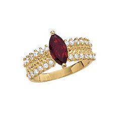 Garnet Ring: hate the jewel shape.