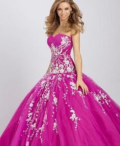 Allure Bridals Tulle Quinceanera Dress Q331