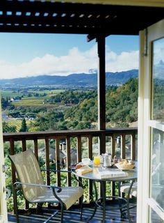 Beautiful spot for breakfast at Napa Valley Romance