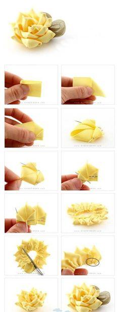 Diy Beautiful Yellow Flower | DIY & Crafts Tutorials