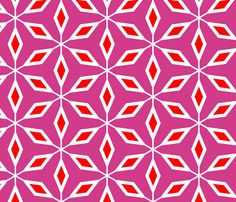 Vintage Tree Pink fabric by stoflab on Spoonflower - custom fabric