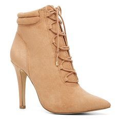 Puertosuarez booties by ALDO. We added some rugged detailing to this oh-so-chic bootie for a hiker-chic feel. You're welcome. - Lace-up. - Pointy t...