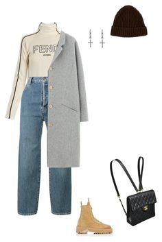 """Winter"" by dastylez ❤ liked on Polyvore featuring Rachel Entwistle, Fendi, Vetements, Menu, Des Petits Hauts, Off-White, Loro Piana and Chanel"