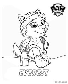 print paw patrol everest coloring pages   paw patrol coloring pages, paw patrol coloring, paw