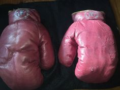 Vintage Red Wine Youth Boxing Gloves