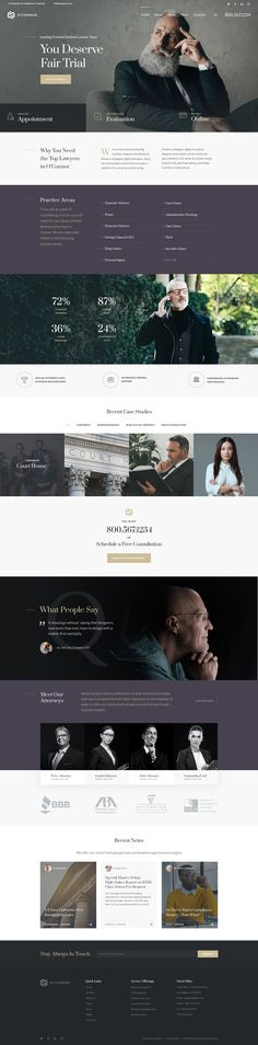 Lawyer & Attorney Business Theme on Behance App Design, Design Art, Landing Page Examples, Bookkeeping Business, Evaluation, Web Layout, Layout Design, Type Setting, Premium Wordpress Themes