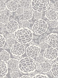 Hygge & West | Petal Pusher (Gray) Removable Wallpaper Tile