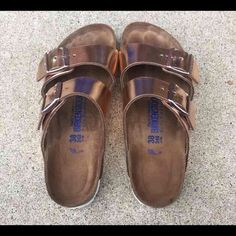 Birkenstock sandals Size 38. Fits an 8-8 1/2. Will trade for vs pink or other Birkenstock sandals in the same size just a different style or color. Wore but still in good condition Birkenstock Shoes Sandals