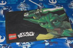 Star Wars Lego Single Bed Duvet Cover with Matching Pillowcase. Material for Upcycling by AtticBazaar on Etsy Bed Duvet Covers, Lego Star Wars, Baddies, Science Fiction, Vibrant, Stars, Vintage, Etsy, Repurpose