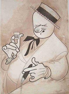 Al Hirschfeld ~ W.C. Fields