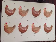 Set of 4 Chicken Portuguese or English style Placemats VINTAGE STYLE Table Mats in Home, Furniture & DIY, Cookware, Dining & Bar, Tableware, Serving & Linen | eBay