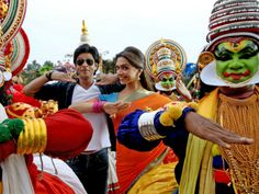 Shahrukh Khan and Deepika Padukone at in Chennai Express