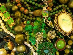 Vintage Green Jewelry - spring Color type