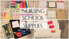 Nursing School Supplies Essentials  -My favorite items to use for college!                                                                                                                                                                                 More