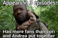More fans than Lori and Andrea!!! Morgan Jones. TWD. The Walking Dead. Season 5. No Sanctuary.