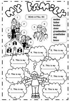 See 5 Best Images of My Family Printable Worksheet. Inspiring My Family Printable Worksheet printable images. My Family Worksheet Kindergarten My Family Worksheet Kindergarten My Family Printable This Is My Family Worksheet My Family Members Worksheets English Resources, English Activities, English Lessons, Learn English, English Games, Vocabulary Worksheets, English Vocabulary, School Worksheets, My Family Worksheet