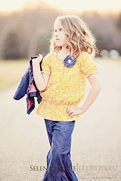New Girls Boutique Blouse and Ruffled Chambray by kbellabambino, $46.00