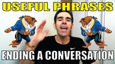USEFUL PHRASES: Como END A CONVERSATION!!! | Prof. Newton Rocha #dicadei...