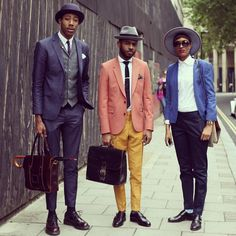 La Touche, Martell and Donya Campbell snapped by livincool.com at London Collections:Men