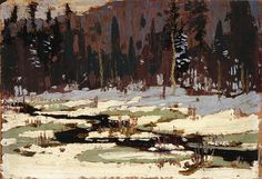 A show that opens today at Masters Gallery in Calgary gives art lovers a rare opportunity to view two dozen little-seen paintings by Tom Thomson. Group Of Seven Paintings, Paintings I Love, Oil Paintings, Emily Carr, Canadian Painters, Canadian Artists, Abstract Landscape, Landscape Paintings, Tom Thomson Paintings