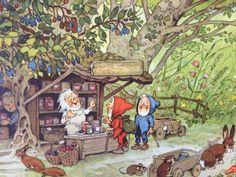 Eingemachtes Forest Animals, Woodland Animals, Baumgarten, Postcard Art, Fairytale Art, Woodland Creatures, Fairy Art, Children's Book Illustration, Forest Cottage